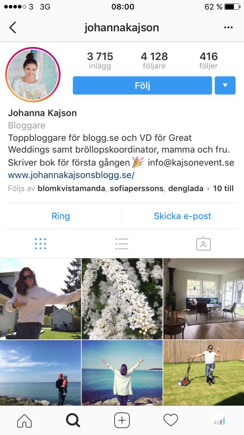 Johanna Kajson Instagram